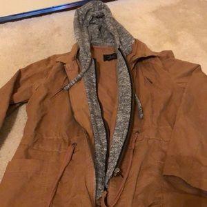 Brown soft denim jacket